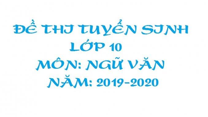 đề thi tuyển sinh lớp 10 trường chuyên Nguyễn Thiện Thành