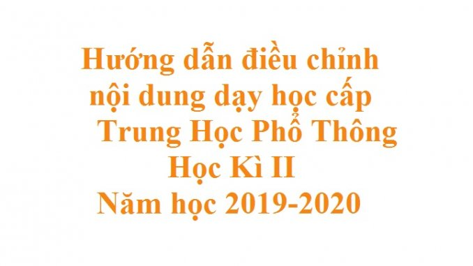 dieu chinh noi dung day hoc